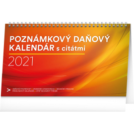 Desk calendar Weekly planner with quotes SK 2021, 25 × 14,5 cm