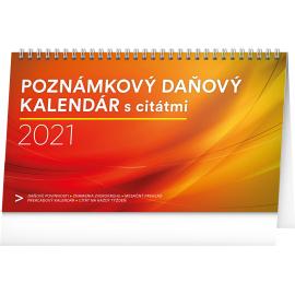 Stolní kalendář Poznámkový daňový s citátmi SK 2021, 25 × 14,5 cm