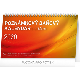Desk calendar Weekly planner with quotes SK 2020, 25 × 14,5 cm