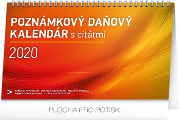 Stolní kalendář Poznámkový daňový s citáty SK 2020, 25 × 14,5 cm