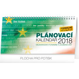 Desk calendar Pracovní kalendář – se světovými a mezinárodními dny 2018, 25 x 12,5 cm