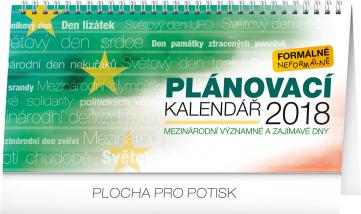Stolní kalendář Pracovní kalendář – se světovými a mezinárodními dny 2018, 25 x 12,5 cm