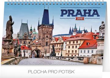 Desk calendar Praha 2018, 23,1 x 14,5 cm