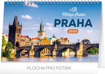 Stolní kalendář Praha – Miluju Prahu 2020, 23,1 × 14,5 cm