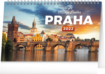 Stolní kalendář Praha – Miluju Prahu 2022, 23,1 × 14,5 cm