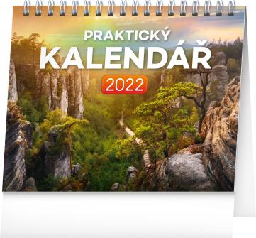 Stolní kalendář Praktický kalendář 2022, 16,5 × 13 cm