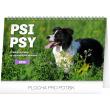 Stolní kalendář Psi – Psy CZ/SK 2020, 23,1 × 14,5 cm