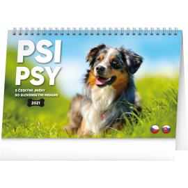 Desk calendar Dogs 2021, 23,1 × 14,5 cm