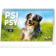 Stolní kalendář Psi – Psy CZ/SK 2021, 23,1 × 14,5 cm