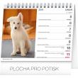 Stolní kalendář Psi – se jmény psů 2018, 16,5 x 13 cm