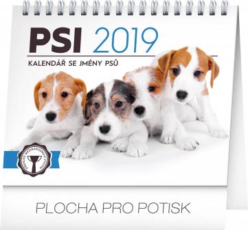 Stolní kalendář Psi – se jmény psů 2019, 16,5 x 13 cm, 16,5 x 13 cm