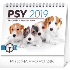 Desk calendar Dogs – with dog names SK 2019, 16,5 x 13 cm