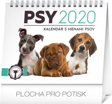 Stolní kalendář Psy – s menami psov SK 2020, 16,5 × 13 cm