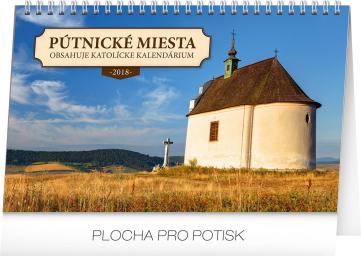 Stolní kalendář Pútnické miesta v SR SK 2018, 23,1 x 14,5 cm