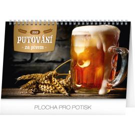Desk calendar Beer destinations 2019, 23,1 x 14,5 cm