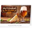 Stolní kalendář Putování za pivem 2020, 23,1 × 14,5 cm