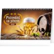 Stolní kalendář Putování za pivem 2021, 23,1 × 14,5 cm