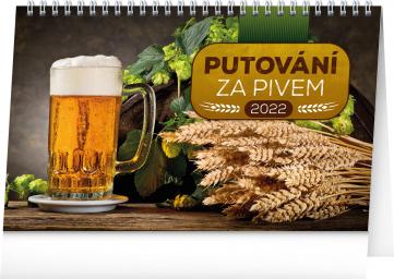 Stolní kalendář Putování za pivem 2022, 23,1 × 14,5 cm