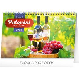 Desk calendar Putování za vínem 2018, 23,1 x 14,5 cm