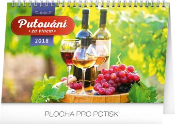 Stolní kalendář Putování za vínem 2018, 23,1 x 14,5 cm