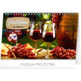 Desk calendar Wine destinations 2019, 23,1 x 14,5 cm