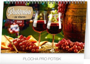 Stolní kalendář Putování za vínem 2019, 23,1 x 14,5 cm