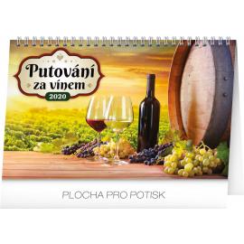 Stolní kalendář Putování za vínem 2020, 23,1 × 14,5 cm