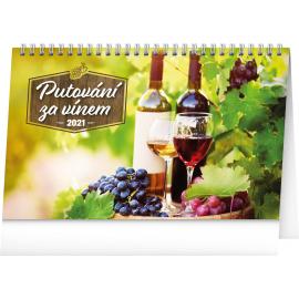 Desk calendar Wine Destinations 2021, 23,1 × 14,5 cm