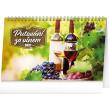 Stolní kalendář Putování za vínem 2021, 23,1 × 14,5 cm