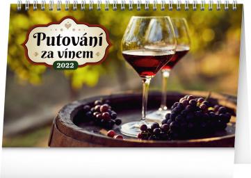 Stolní kalendář Putování za vínem 2022, 23,1 × 14,5 cm
