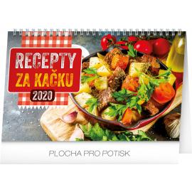 Desk calendar Cheap meal tips 2020, 23,1 × 14,5 cm