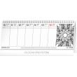 Stolní kalendář Rok bez stresu 2019, s omalovánkami, 33 x 12,5 cm