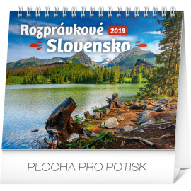 Desk calendar Slovak scenic beauty 2019, 16,5 x 13 cm