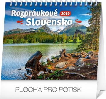 Stolní kalendář Rozprávkové Slovensko SK 2019, 16,5 x 13 cm