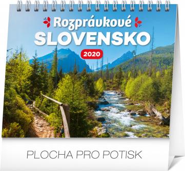 Stolní kalendář Rozprávkové Slovensko SK 2020, 16,5 × 13 cm