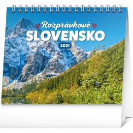 Stolní kalendář Rozprávkové Slovensko SK 2021, 16,5 × 13 cm