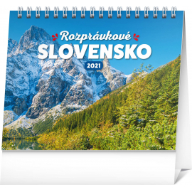 Desk calendar Slovak Scenic Beauty 2021, 16,5 × 13 cm