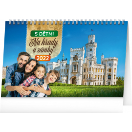 Desk calendar Travel Tips with kids 2022, 23,1 × 14,5 cm