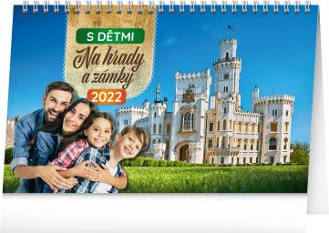 Stolní kalendář S dětmi na hrady a zámky 2022, 23,1 × 14,5 cm
