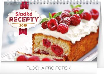 Stolní kalendář Sladké recepty 2019, 23,1 x 14,5 cm