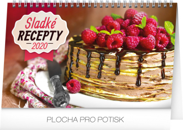 Stolní kalendář Sladké recepty 2020, 23,1 × 14,5 cm