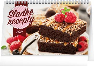 Desk calendar Cakes 2021, 23,1 × 14,5 cm