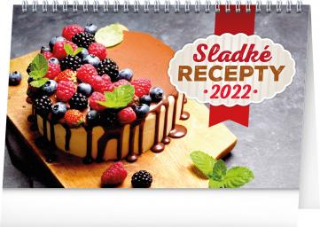 Stolní kalendář Sladké recepty 2022, 23,1 × 14,5 cm
