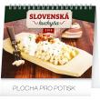 Stolní kalendář Slovenská kuchyňa SK 2018, 16,5 x 13 cm