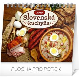 Desk calendar Slovak cuisine 2019, 16,5 x 13 cm
