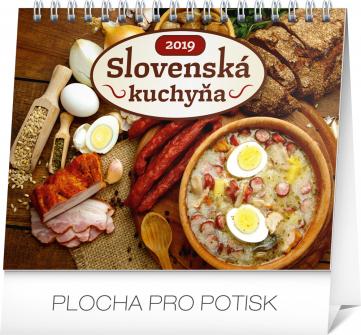Stolní kalendář Slovenská kuchyňa SK 2019, 16,5 x 13 cm