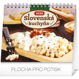 Stolní kalendář Slovenská kuchyňa SK 2020, 16,5 × 13 cm