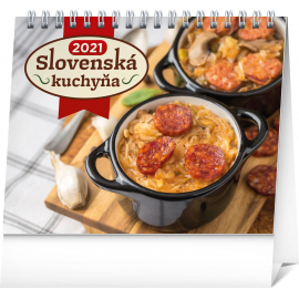 Stolní kalendář Slovenská kuchyňa SK 2021, 16,5 × 13 cm