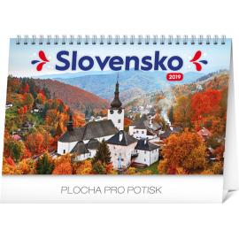 Desk calendar Slovakia 2019, 23,1 x 14,5 cm