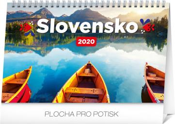 Stolní kalendář Slovensko 2020 SK, 23,1 × 14,5 cm